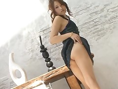 Horny Japanese honey ravishes a lusty knob with her mouth